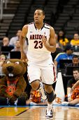 LOS ANGELES - MARCH 10: Arizona Wildcats F Derrick Williams #23 during the NCAA Pac-10 Tournament ba