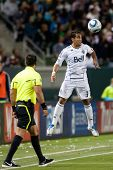CARSON, CA. - JUNE 1: Vancouver Whitecaps FC F Camilo #37 in action during the MLS game between Vanc