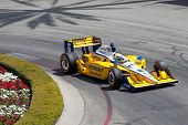 LONG BEACH - APRIL 17: Ryan Briscoe driver of the #6 Penske Truck Rental Team Penske Dallara Honda r