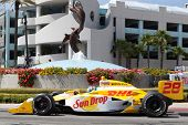 LONG BEACH - APRIL 17: Ryan Hunter-Reay driver of the #28 Andretti Autosport Team DHL / Sun Drop Cit
