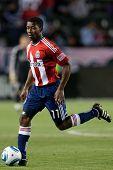 CARSON, CA. - 1 de junio: Chivas USA M Michael Lahoud #11 en acción durante el partido de la MLS entre Vancouve
