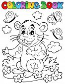 foto of hamster  - Coloring book with cartoon hamster  - JPG