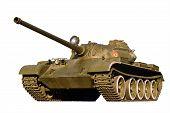 Battle Tank On A White