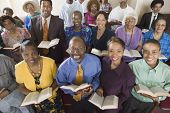 stock photo of pews  - African American Congregation - JPG