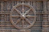 Konark Wheel On Ancient Hindu Temple