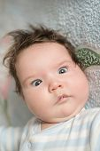 The Babys Eyes Squint. Special Problems With The Baby S Eyes. Myopia, Astigmatism, Cross-eyed. poster