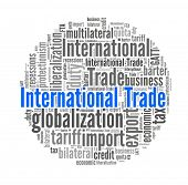 stock photo of bartering  - International Trade in word collage - JPG