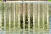 Abstract Background Reflection Lincoln Memorial Reflecting Pool Columns Monument Washington Dc poster