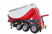Concrete mixer truck semi-trailer