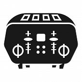 Domestic Toaster Icon. Simple Illustration Of Domestic Toaster Vector Icon For Web Design Isolated O poster