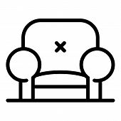 Trendy Armchair Icon. Outline Trendy Armchair Vector Icon For Web Design Isolated On White Backgroun poster