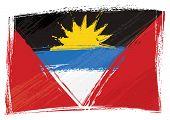 Bandera de Antigua y Barbuda Grunge