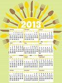 calendário de lanchonete de 2013