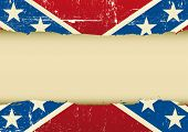 stock photo of confederation  - Confederate  scratched flag - JPG