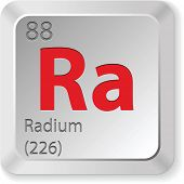 stock photo of radium  - radium element - JPG
