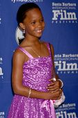 SANTA BARBARA - JAN 29:  Quvenzhane Wallis arrives at the  Santa Barbara International Film Festival
