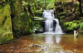 pic of bohemia  - Waterfall in Resov in Moravia Czech republic - JPG