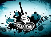 picture of wacky  - cool wacky grunge Music background with music details - JPG