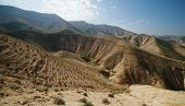 picture of jericho  - Valley between hills in desert in spring - JPG