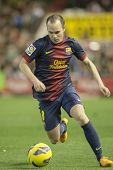 VALENCIA - FEBRUARY 3: Andres Iniesta during Spanish League match between Valencia CF and FC Barcelo