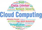 World of Cloud Computing IT technology keyword cloud tags