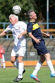BUDAPEST - SEPTEMBER 9: Unidentified players in action at a I. International Senior Football Festiva