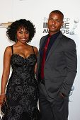 LOS ANGELES - JAN 31:  Angell Conwell, Redaric Williams arrives at the 44th NAACP Image Awards at th