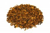 foto of tobacco-pipe  - Pile of pipe tobacco isolated on white - JPG