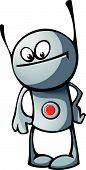 Robot With Button And Antennae
