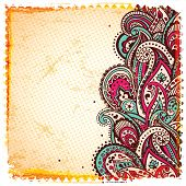Abstract paisley background
