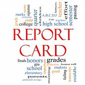 Report Card Word Cloud Concept