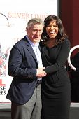 LOS ANGELES, CA - FEB 4: Robert De Niro, wife Grace Hightower at a ceremony where Robert De Niro is