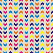 Aztec Chevron seamless vector colorful vector pattern, texture or background with zigzag stripes.