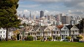 pic of row houses  - SAN FRANCISCO USA  - JPG
