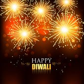 beautiful happy diwali fireworks background