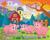 Pig theme image 2 - eps10 vector illustration.