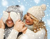 pic of blindfolded man  - christmas - JPG