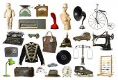 image of lp  - Collage of Vintage products isolated on white background - JPG