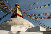 Boudhanath Stupa And Prayer Flags