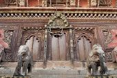 stock photo of tantric  - Masterwork of fine wooden art and craft of Changu Narayan Temple in Bhaktapur - JPG