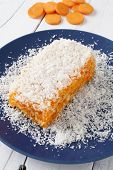 Carrot And Coconut Cake Close Up