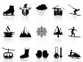 stock photo of ski boots  - isolated winter icons set on white background - JPG