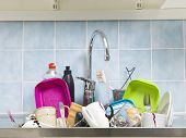 Kitchen utensils need a wash