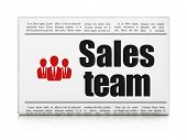 Marketing news concept: newspaper with Sales Team and Business P