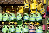 Rows Of Life Jackets