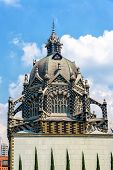 stock photo of medellin  - View of the dome of the house of culture in the center of Medellin Colombia - JPG