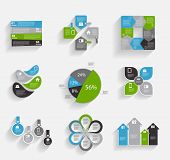foto of population  - Collection of Infographic Templates for Business Vector Illustration - JPG
