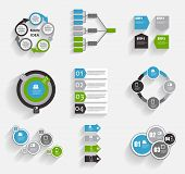 stock photo of line graph  - Collection of Infographic Templates for Business Vector Illustration - JPG