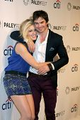 LOS ANGELES - MAR 16:  Maggie Grace, Ian Somerhalder at the PaleyFEST -
