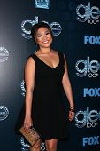 LOS ANGELES - MAR 18:  Jenna Ushkowitz at the GLEE 100th Episode Party at Chateau Marmont on March 18, 2014 in West Hollywood, CA